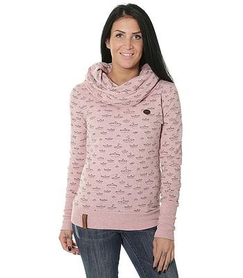 tričko Naketano Wollüstiges Turngerät LS - Schmutzmuschi Pink Melange 78b4f49e94b