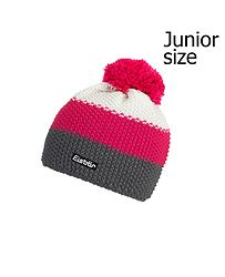 25f7e0c3c detská čiapka Eisbär Star Pompon MÜ - 407/Anthrazit/Pitti Pink/White