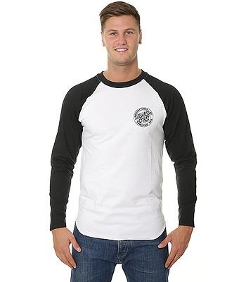 tričko Santa Cruz MFG Dot Baseball LS - Black White  4e032842131