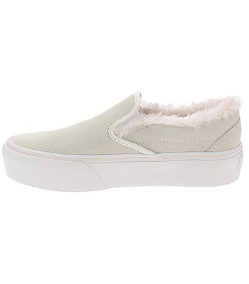 ed2c24a7d2 shoes Vans Classic Slip-On Platform - Suede Fur True White Pink. In stock