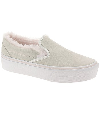 5205559e25e shoes Vans Classic Slip-On Platform - Suede Fur True White Pink -  snowboard-online.eu