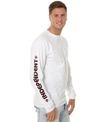 tričko Independent Bar Cross LS - White - snowboard-online.cz 3675d946dae
