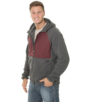b19056e2a993f sweatshirt Nike SB Winterized Polartec Zip - 060 Anthracite Burgundy ...