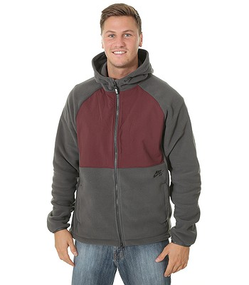 ec3295abcfda1 sweatshirt Nike SB Winterized Polartec Zip - 060 Anthracite Burgundy  Crush Black - men´s - blackcomb-shop.eu