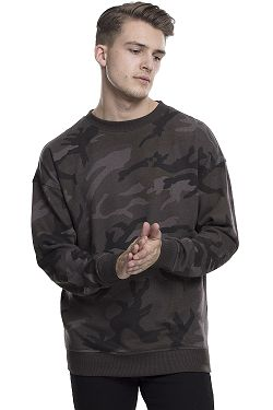 mikina Urban Classics Camo Crew TB1782 - Dark Camouflage 1d99b884800