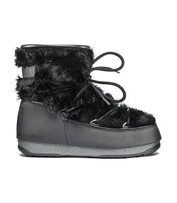 topánky Tecnica Moon Boot W.E. Monaco Low Fur - Black - snowboard ... 615d2651b46