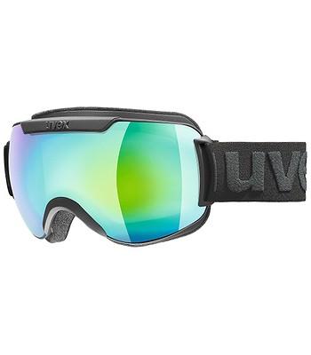 96f4b371c okuliare Uvex Downhill 2000 FM - Black Mat Dl/Green Clear ...