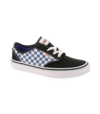 dětské boty Vans Atwood - Checkerboard Black Blue  fd250a9df7