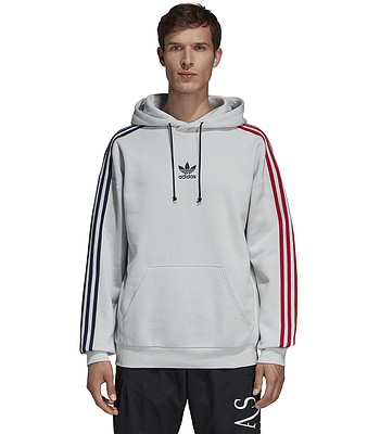 mikina adidas Originals 3 Stripes Hoody - Clear Gray - snowboard ... 9a02df8f433