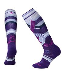 ponožky Smartwool PhD Ski Medium Pattern - Mountain Purple 041cc46a8d
