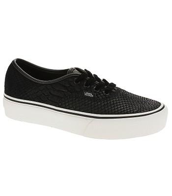 shoes Vans Authentic Platform 2.0 - Leather Snake Black - women´s -  snowboard-online.eu 601b540da