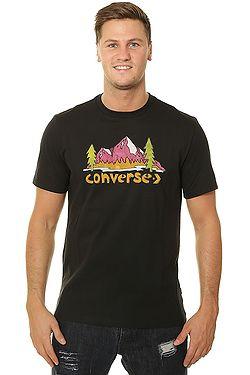 tričko Converse Illustrated Mountain 10008997 - A02 Black ... e748108501d