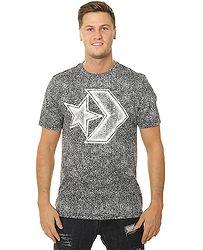 490ad7a8a3d tričko Converse Distressed Star Chevron 10007226 - A01 Converse Black