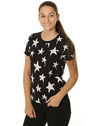 tričko Converse Graffiti Star Crew 10007154 - A01 Converse Black Multi 49148b550a