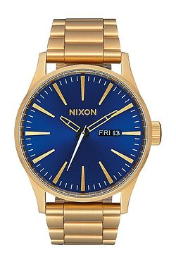 hodinky Nixon Sentry SS - All Gold Blue Sunray 685957c963c