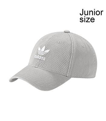 567eb9e65e0 cap adidas Originals Washed Adicolor Baseball - Medium Gray Heather Solid  Gray White - unisex junior