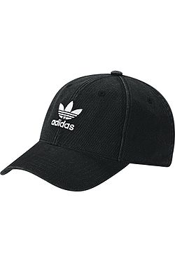 kšiltovka adidas Originals Washed Adicolor Baseball - Black White ... a37bc1b73d