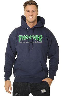sweatshirt Thrasher Outlined Hood - Navy Blue - men´s