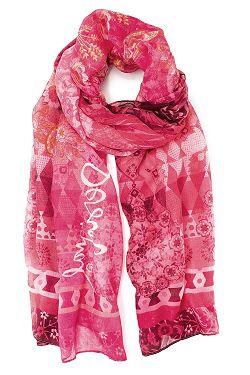 šátek Desigual 19SAWF97 Flirt - 3043 Fucsia Glamour bcf280d18d
