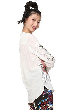 182bd072286c ... košeľa Desigual 19SWBW09 Daniela LS - 1000 Blanco