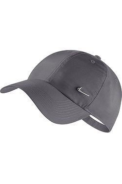 kšiltovka Nike Sportswear Heritage86 Metal Swoosh - 021 Dark Gray Metallic  Silver ... 257795beab