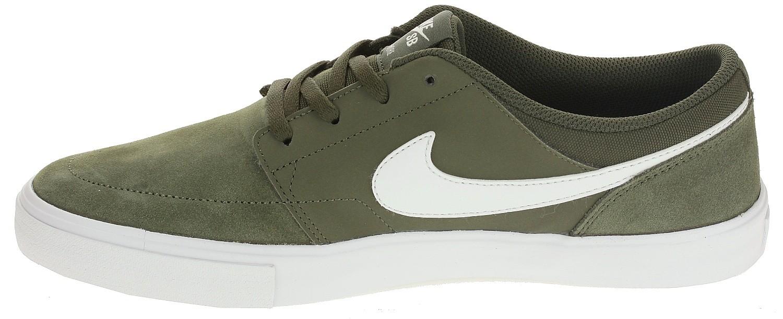 shoes Nike SB Portmore II Solar - Cargo Khaki/White/Black - men´s ...