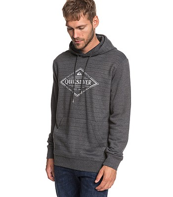 mikina Quiksilver X Elite - MGH3 Medium Gray Heather Screen Hoodie Stripes cf5c565e1e8