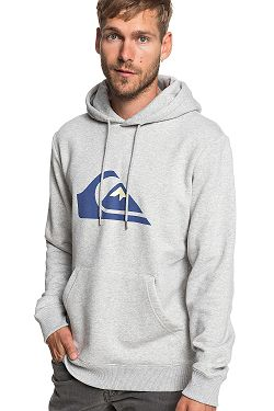 3f95c329e6 mikina Quiksilver Big Logo Hood - SJSH Light Gray Heather ...