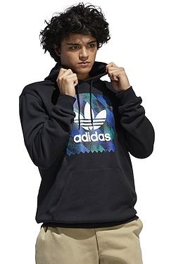 mikina adidas Originals Towning Logo Fill - Black White Active Blue Active  Green 47a94620e79
