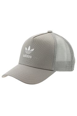 8fd2968eae1 šiltovka adidas Originals Trefoil Trucker - Medium Gray Heather Solid  Gray White ...