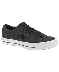 topánky Converse One Star OX - 163247 Almost Black Black White beb3dbec84d