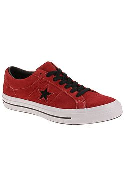 f4a25196a98 boty Converse One Star OX - 163246 Enamel Red Black White ...