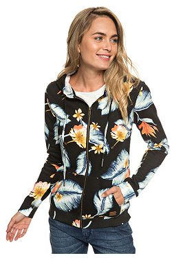 dd22f1ddaa mikina Roxy Trippin Printed Zip - KVJ6 Anthracite Tropical Love ...