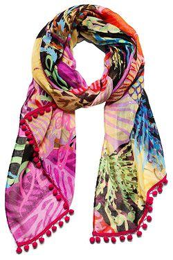 šátek Desigual 19SAWF89 Flowersin - 2000 Negro 35d0032cca
