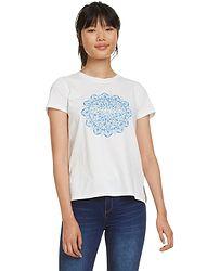 tričko Desigual 19SWTK41 Manchester - 1000 Blanco e5e6a2dbd2d