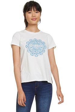 tričko Desigual 19SWTK41 Manchester - 1000 Blanco ... af2ee2f3d67