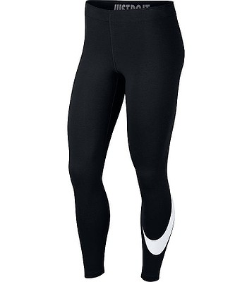 legíny Nike Sportswear Legasee Swoosh Leggings - 011 Black White ... 7dfa7f7781