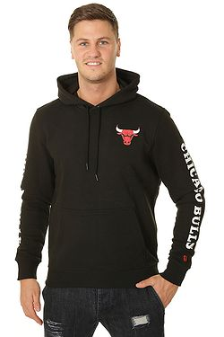 664bc776c1 mikina New Era Sleeve Wordmark Hoody NBA Chicago Bulls - Black