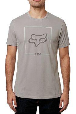 29fa2bdddd tričko Fox Chapped Airline - Steel Gray ...