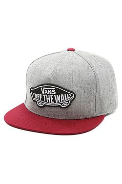 kšiltovka Vans Classic Patch Snapback - Heather Gray Rhumba Red ... 5c8d3d1167
