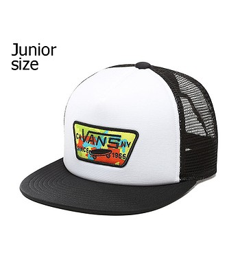 dd65cfef6ed dětská kšiltovka Vans Full Patch Trucker Youth - White Black ...