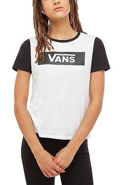 3e4d765dde tričko Vans V Tangle Range Ringer - White Black ...