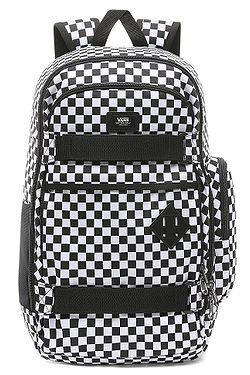 02e3abb962 batoh Vans Transient III Skate - Black White Checkerboard ...