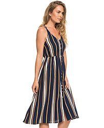 c2d6e190361f šaty Roxy Sunset Beauty - BTK4 Dress Blue Macy Stripe