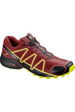boty Salomon Speedcross 4 - Red Dahlia Black Safety Yellow ... bcb1251b29