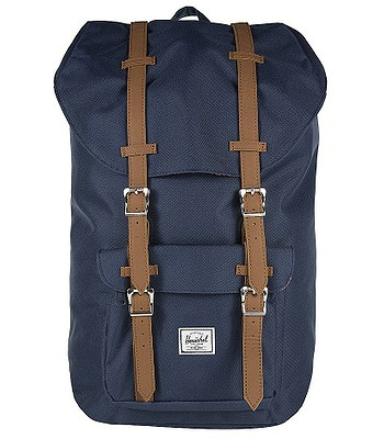 a2645ae948 batoh Herschel Little America - Navy Tan Synthetic Leather ...