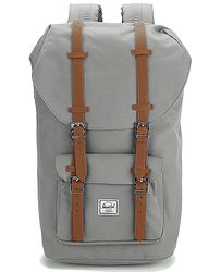 8d3eccb429 batoh Herschel Little America - Gray Tan Synthetic Leather