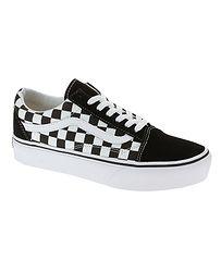 topánky Vans Old Skool Platform - Checkerboard Black True White 989c39d52a