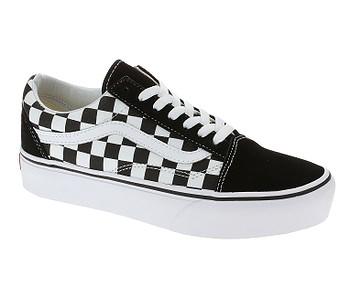 boty Vans Old Skool Platform - Checkerboard/Black/True White