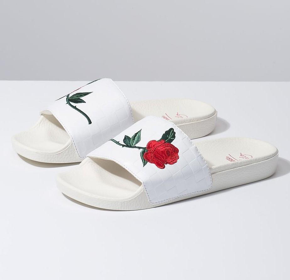 shoes Vans Slide-On - Leila Hurst/White